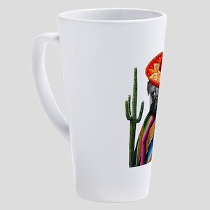 Mexican pug dog 17 oz Latte Mug