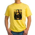Mona / Poodle (bl) Yellow T-Shirt