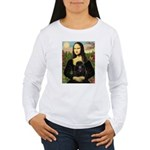 Mona / Poodle (bl) Women's Long Sleeve T-Shirt