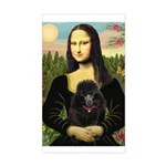Mona / Poodle (bl) Sticker (Rectangle)