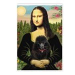 Mona / Poodle (bl) Postcards (Package of 8)