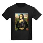 Mona / Poodle (bl) Kids Dark T-Shirt