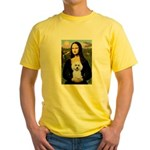 Mona Lisa / Poodle(w) Yellow T-Shirt