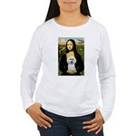 Mona Lisa / Poodle(w) Women's Long Sleeve T-Shirt