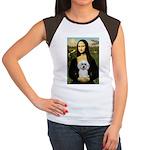 Mona Lisa / Poodle(w) Women's Cap Sleeve T-Shirt
