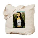 Mona Lisa / Poodle(w) Tote Bag