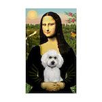 Mona Lisa / Poodle(w) Sticker (Rectangle)