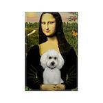 Mona Lisa / Poodle(w) Rectangle Magnet
