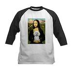 Mona Lisa / Poodle(w) Kids Baseball Jersey