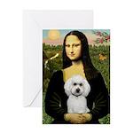Mona Lisa / Poodle(w) Greeting Card