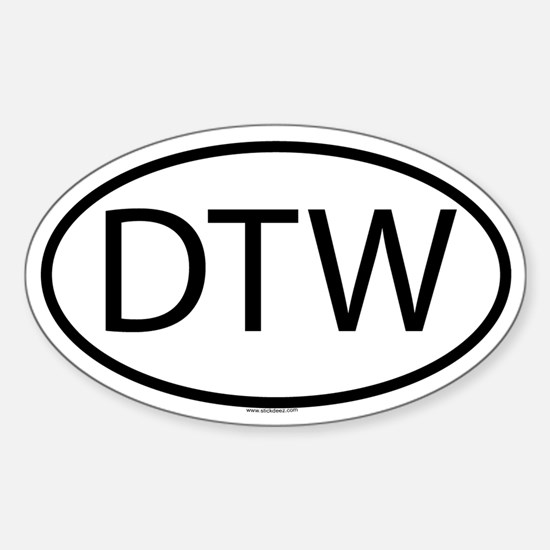 DTW Oval Decal