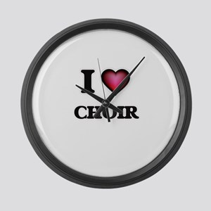 I love Choir Large Wall Clock