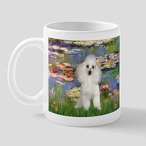 Lilies /Poodle (w) Mug