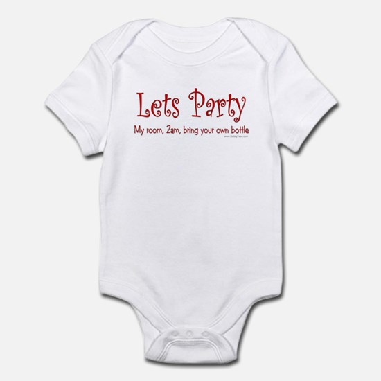 """Lets Party"" Baby / Infant creeper"