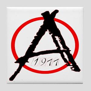 Punk Anarchy 1977 Tile Coaster