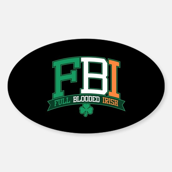 Full Blooded Irish Sticker (Oval)