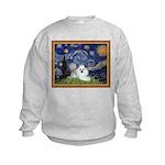 Starry Night / Poodle(w) Kids Sweatshirt