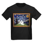 Starry Night / Poodle(w) Kids Dark T-Shirt