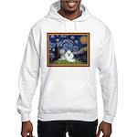 Starry Night / Poodle(w) Hooded Sweatshirt