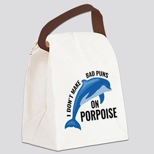 Bad Puns On Porpoise Canvas Lunch Bag