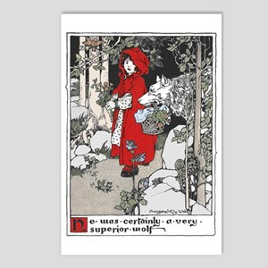 Webb's Little Red Riding Hood Postcards (Package o
