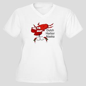 Crab Fishing Dutch Harbor Ala Women's Plus Size V-