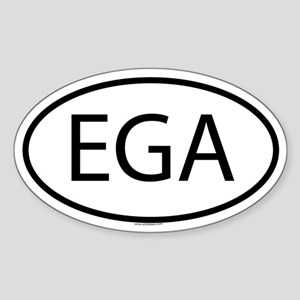 EGA Oval Sticker