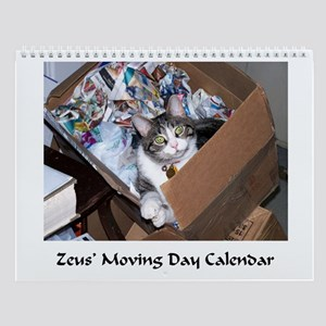 Zeus the Cat's Moving Day Wall Calendar