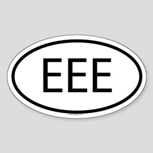 EEE Oval Sticker