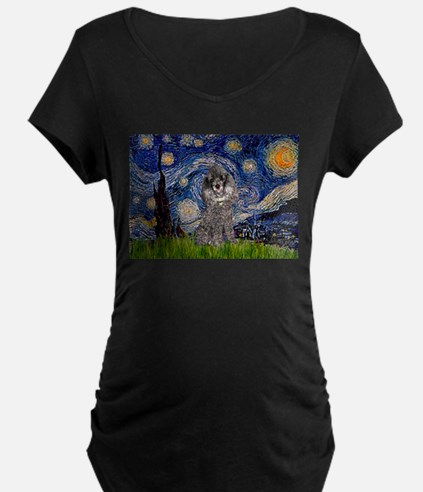 Starry Night / Poodle (s) T-Shirt