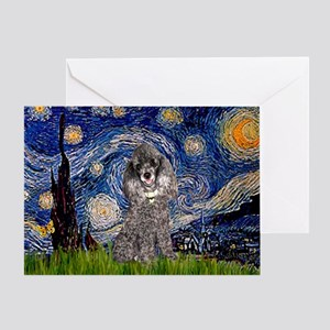 Starry Night / Poodle (s) Greeting Card