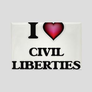 I love Civil Liberties Magnets
