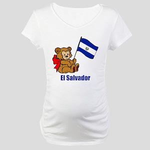 El Salvador Teddy Bear Maternity T-Shirt