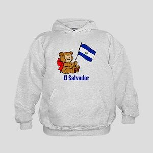 El Salvador Teddy Bear Kids Hoodie