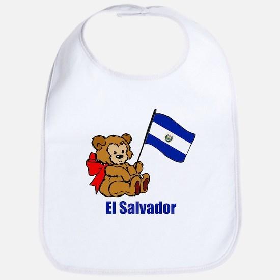 El Salvador Teddy Bear Bib