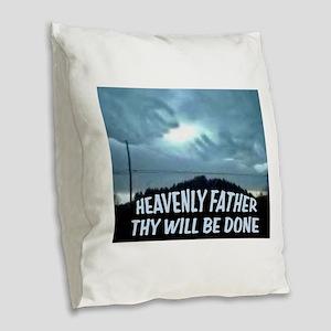 GOD'S HANDS Burlap Throw Pillow
