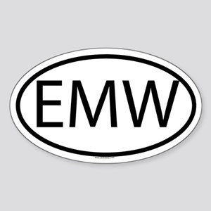 EMW Oval Sticker
