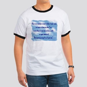 Serenity Slogan (clouds) Ringer T