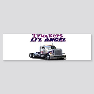 Truckers Li'l Angel Bumper Sticker