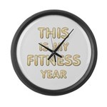 My Fitness Year Large Wall Clock