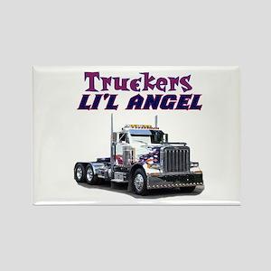 Truckers Li'l Angel Rectangle Magnet