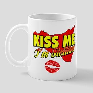 Classic Kiss Me I'm Sicilian Mug