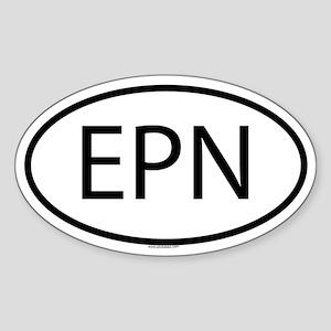 EPN Oval Sticker