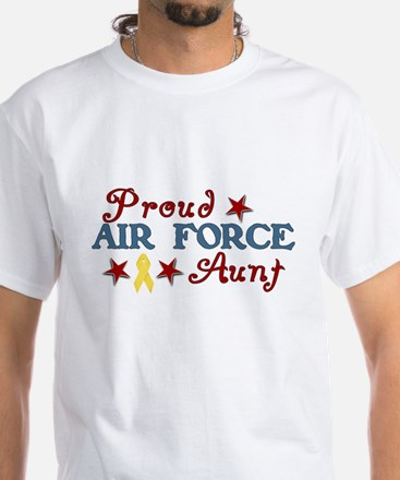 Air Force Aunt (collage) White T-Shirt