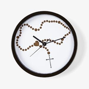The Rosary Beads Wall Clock