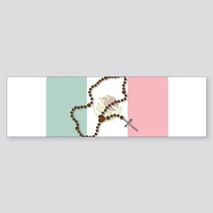 Rosary With Mexican Flag Bumper Sticker