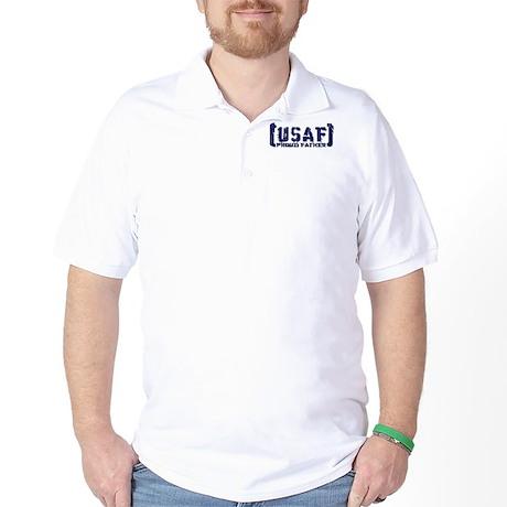 Proud USAF Fthr - Tatterd Style Golf Shirt