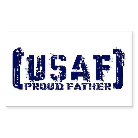 Proud USAF Fthr - Tatterd Style Sticker (Rectangul