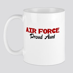 Air Force Aunt (red) Mug