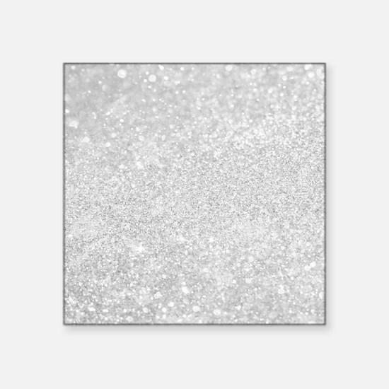 Silver Glitter Style Sticker